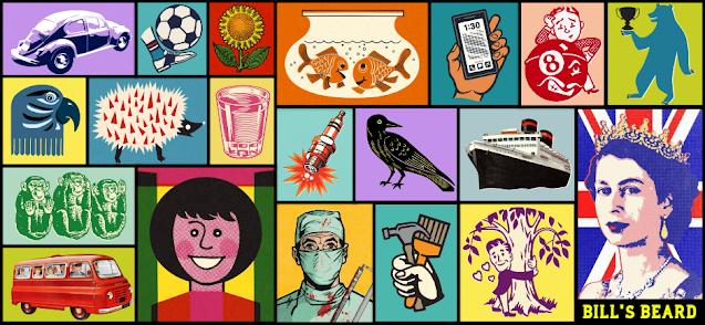 Bills Beard collage pop art images