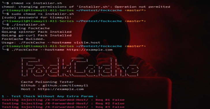 FockCache : Minimalized Test Cache Poisoning