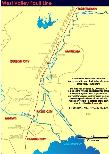 West Valley Fault Line Metro Manila