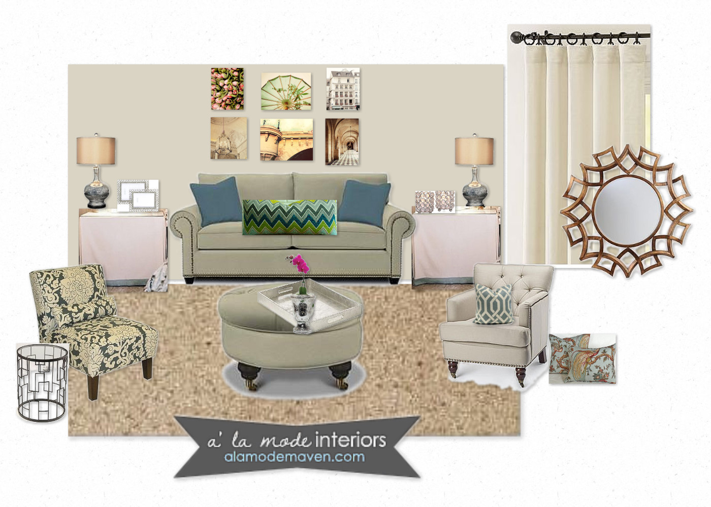 alamode: E- Design Of The Week- Horton Living Room