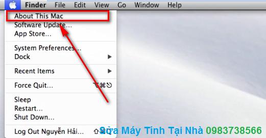 Hướng dẫn xem cấu hình Macbook
