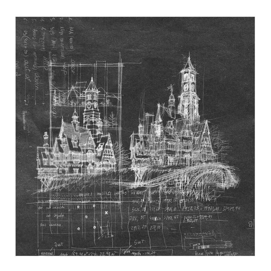 09-Clock-tower-and-village-sketch-Roman-Maklakov-www-designstack-co