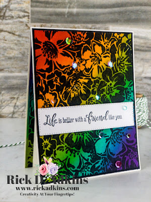 Have fun with the Faux Scratch Art Technique with your background stamps.  Click here to learn more.