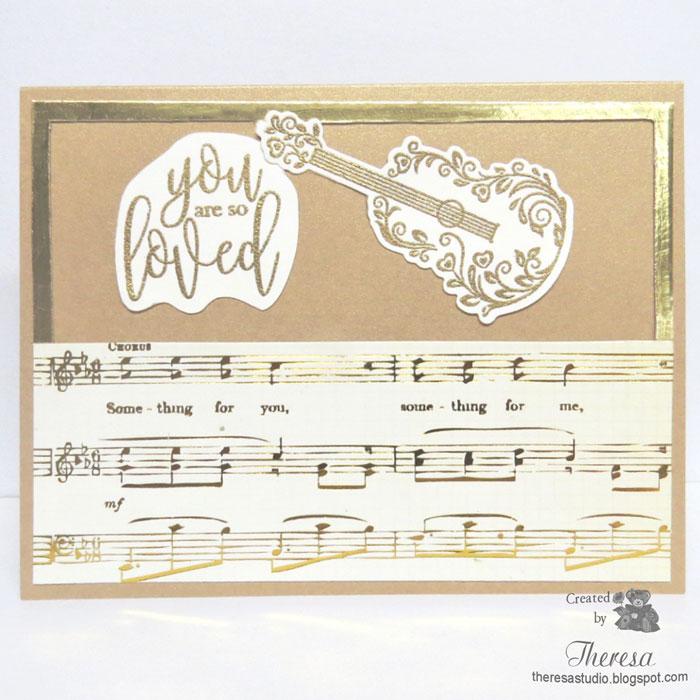 theresa s studio musical anniversary card