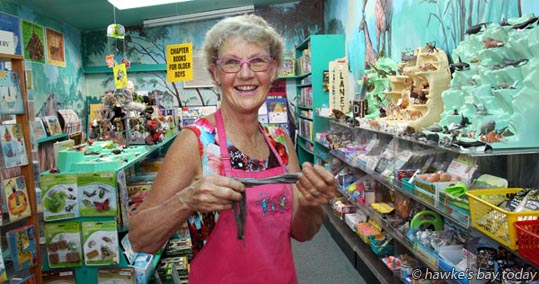 Di Charlton, owner, Apple Activities, an educational toy shop, Hastings, playing with Thinking Putty, one of her bestsellers, says retail has been successful due to the positive vibes coming from the horticulture industry. photograph