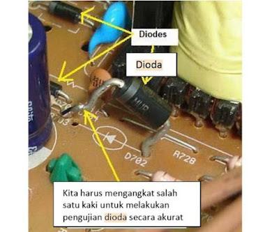 Cara Mengukur dan Menguji Komponen Dioda pada rangkaian