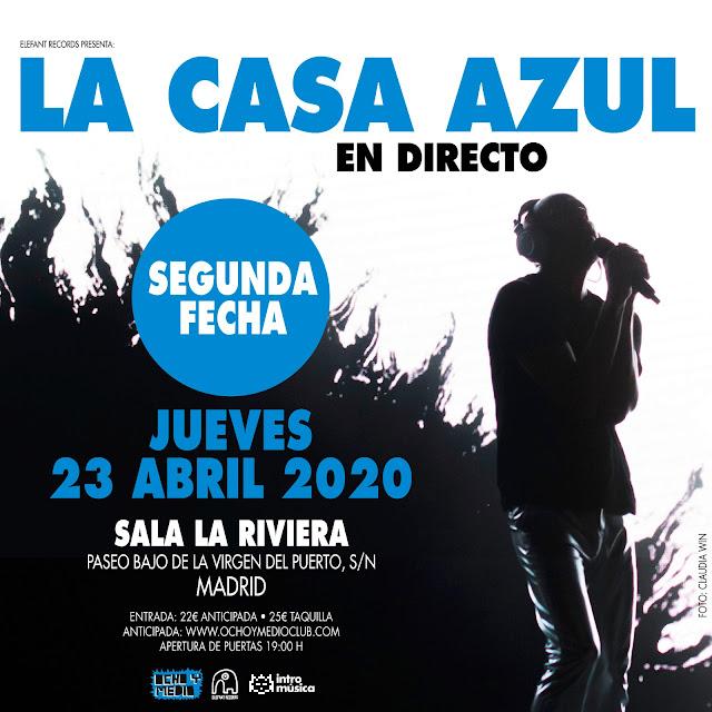 Agenda de giras, conciertos y festivales - Página 19 Lacasaazul