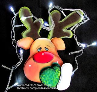 Reno-navideño-colgante