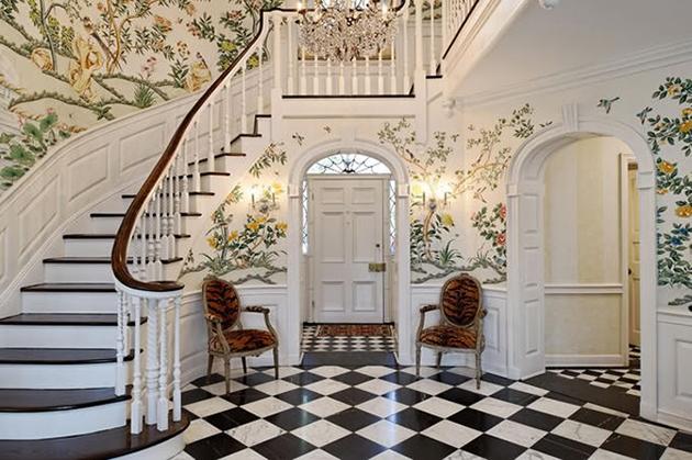 Bricolage House Inspiration Black White Tiled Floor