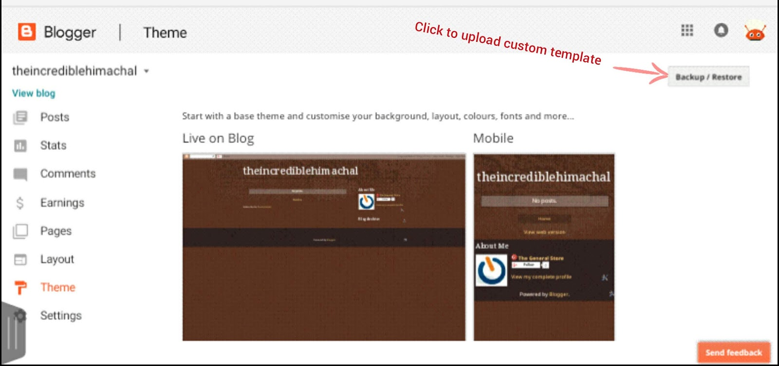 How To Download And Upload A Custom Template In Blogger Blog