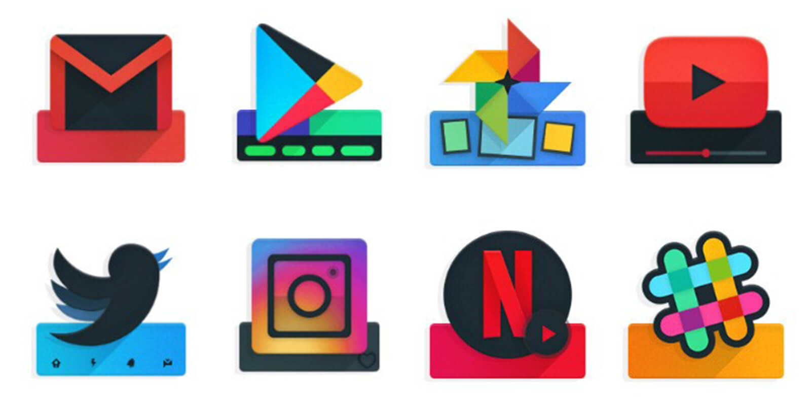 Ombre Icon Pack APK
