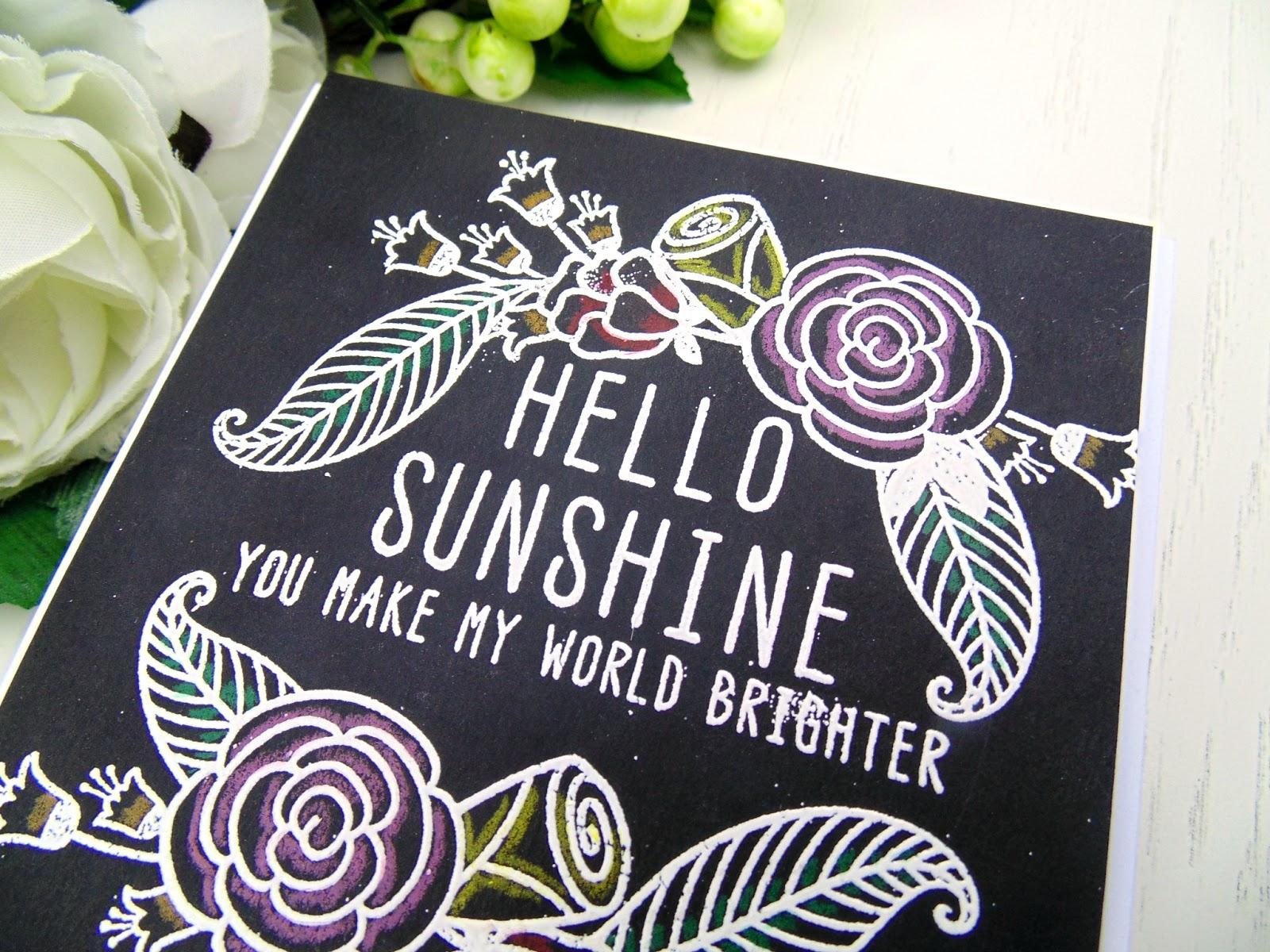 Seven Hills Crafts Blog Chalkboard Hello Sunshine