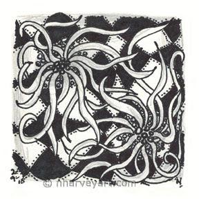 zentangle zen doodle ink pencil drawing sketch