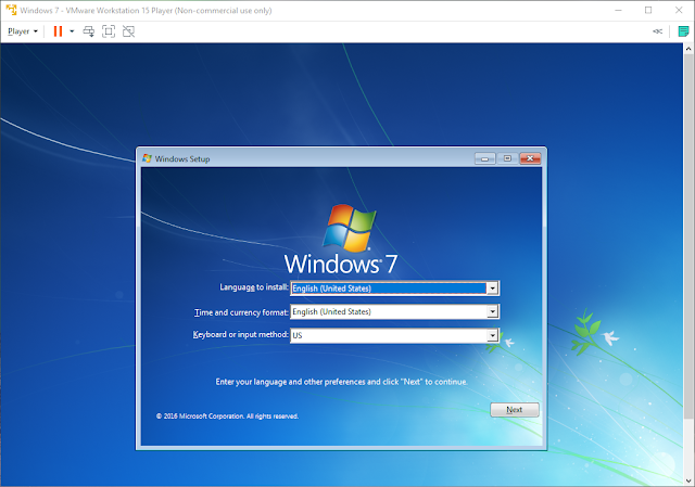 Install Windows 7 VMware