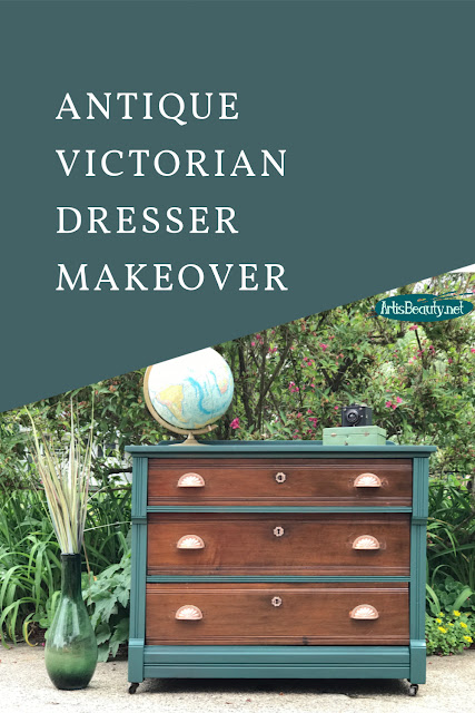 ANTIQUE VICTORIAN DRESSER MAKEOVER USING GENERAL FINISHES MILK PAINT IN WESTMINSTER