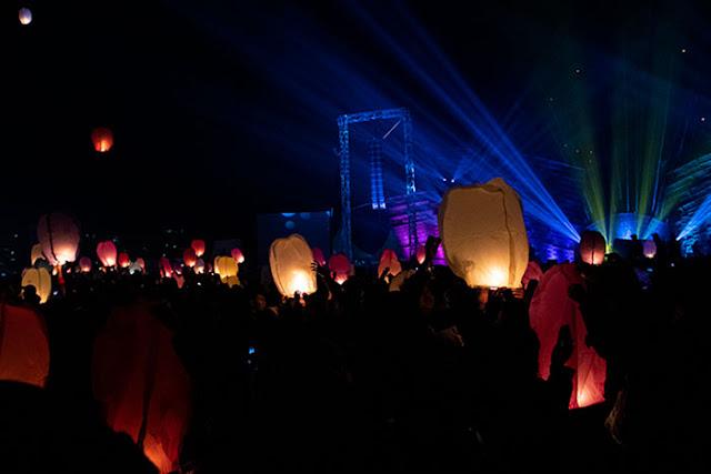 Penerbangan Lampion pada Dieng Culture Festival 2019