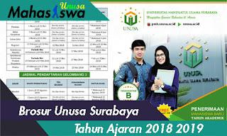 brosur unusa tahun ajaran 2018 / 2019