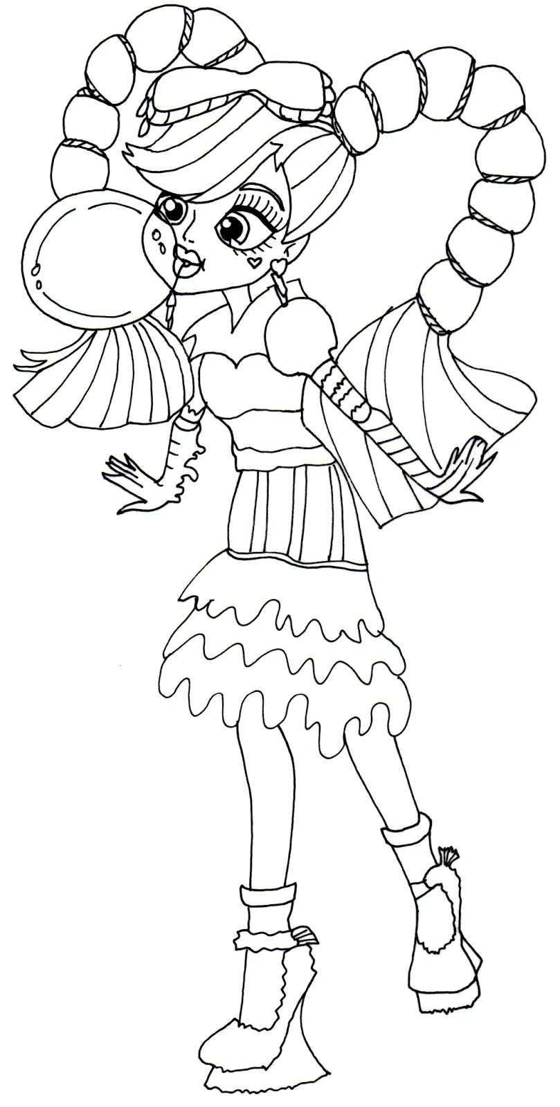 Lagoona Blue From Monster High Coloring Page Printable