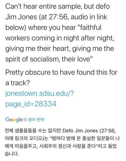 [PANN] Suga'nın Jim Jones konuşmasını şarkısında kullanması tartışmaya yol açtı