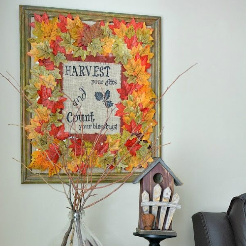 How To Print On Burlap - Fall Harvest Wall Decor