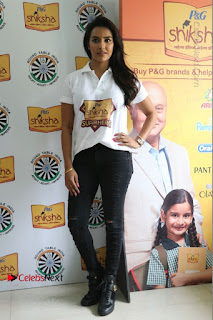 Priya Anand with the Students of Shiksha Movement Event