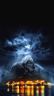 Mountains Dark Mobile HD Wallpaper