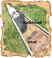 canoe bow bulkhead and seat