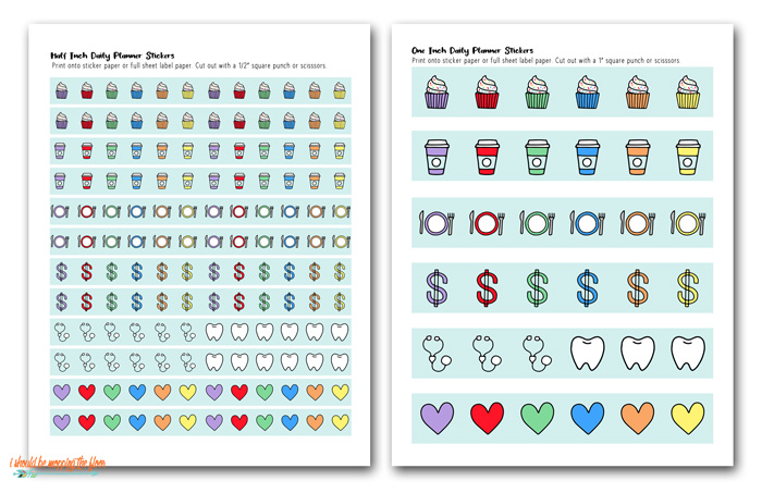 Planner Sticker Designs