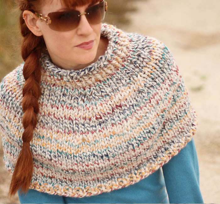 Knitting Pattern For A Cape : Fog Chaser Cape Knitting Pattern - Gina Michele
