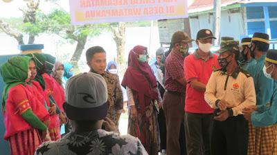 Dinilai Tim Terpadu Lomba Tingkat Desa dan kelurahan, Kades Watampanua Sambut Tim Terpadu