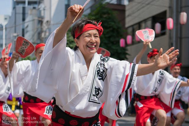 マロニエ祭りで浅草雷連の男踊りの踊り手の一人を撮影した写真 その3