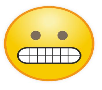 Emoticon Nervous Gugup
