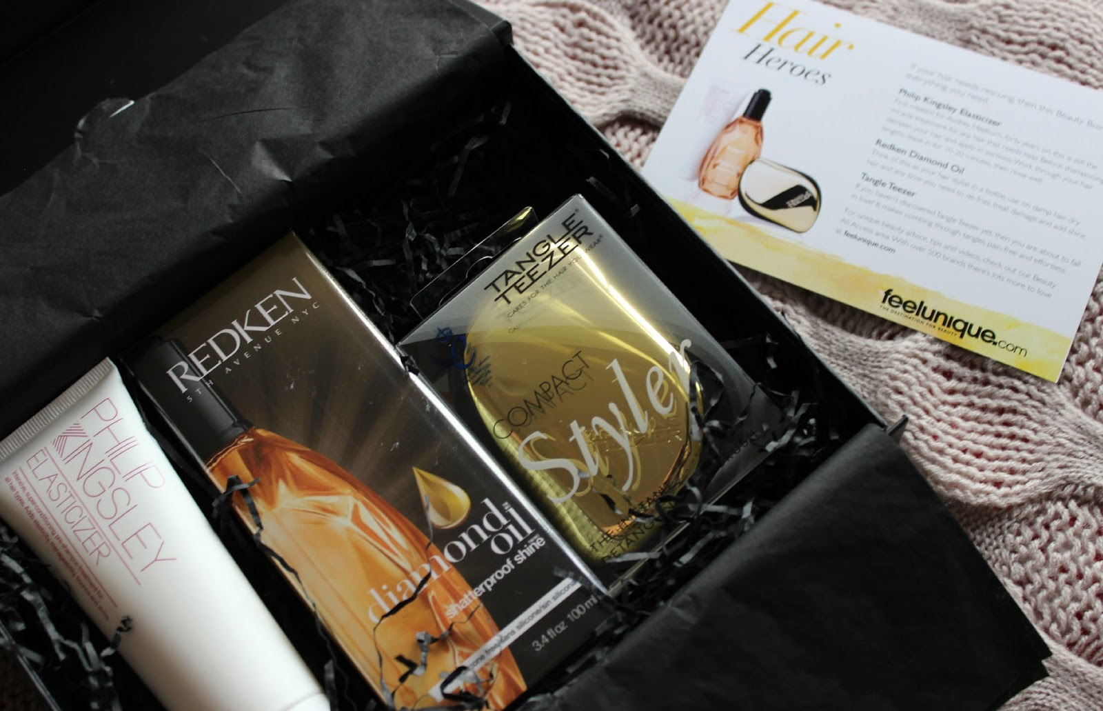 A picture of Feel Unique Hair Heroes Beauty Box