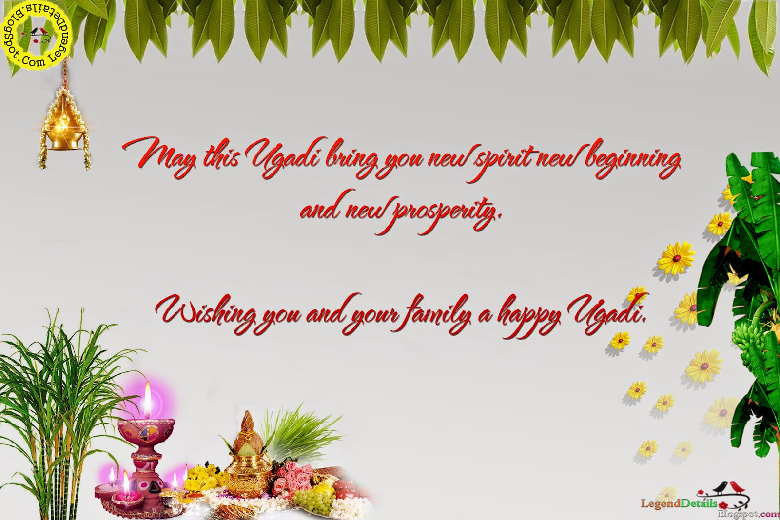 Beautiful Ugadi Greetings With Messages Legendary Quotes