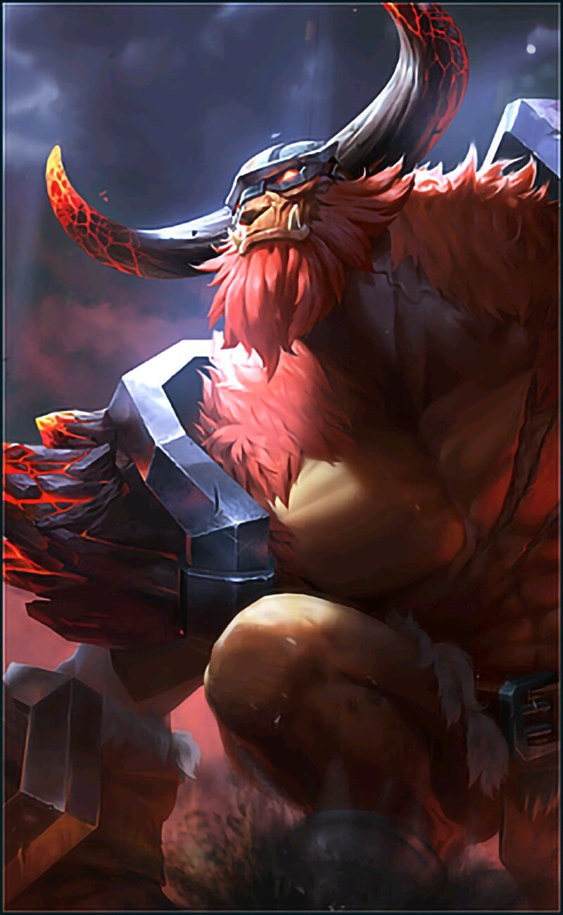 Wallpaper Minotaur Bursting Yama Rework HD for Android and iOS