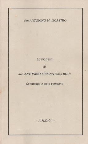 LE POESIE DI DON ANTONINO FRISINA (alias BIJU)
