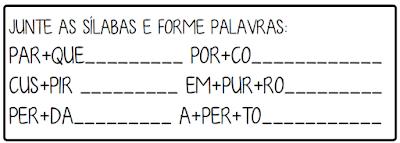 4 Atividades trabalhando sílabas complexas letra P