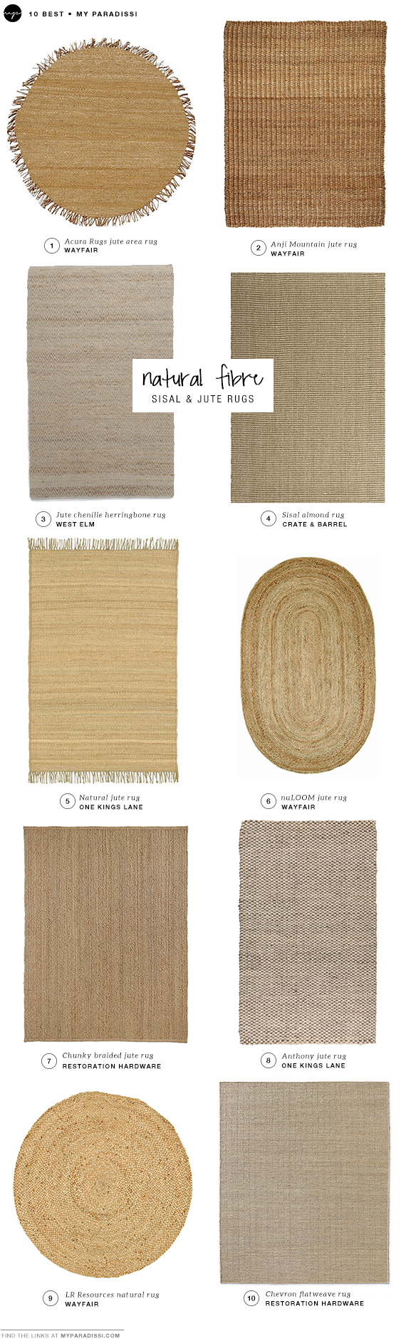 DECOR TREND: Sisal and jute rugs shopping picks