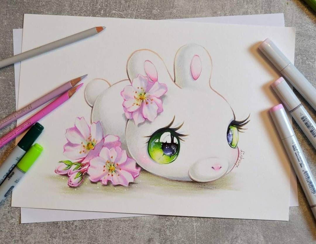 11-Sakura-Mochi-Bun-Lisa-Saukel-lighane-Cute-Colored-Fantasy-Animal-Drawings-www-designstack-co