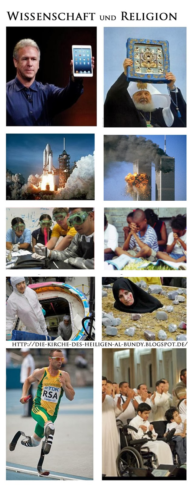 Unterschied zwischen Wissenschaft und Religion lustig
