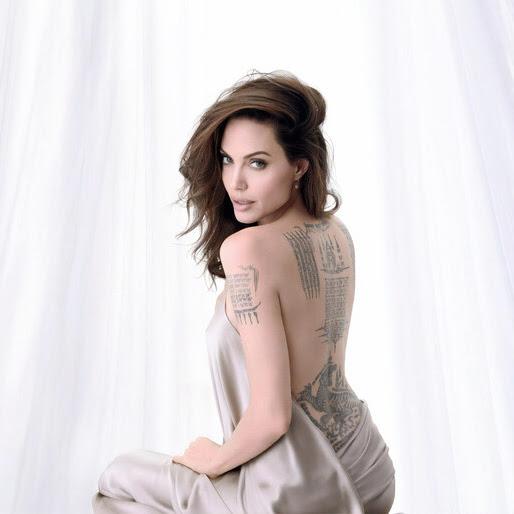 Angelina Jolie Back Tattoo Girl 4k Wallpaper 4 1373