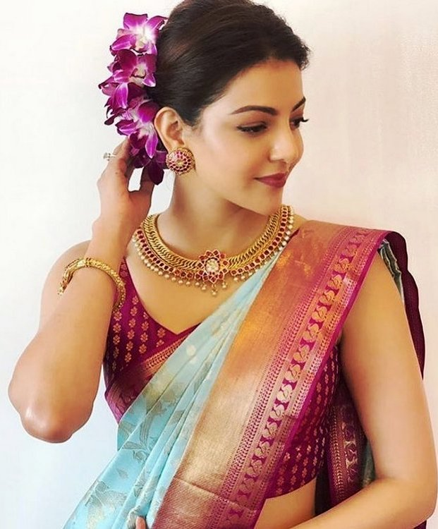 Kajal in saree latest photo 2020