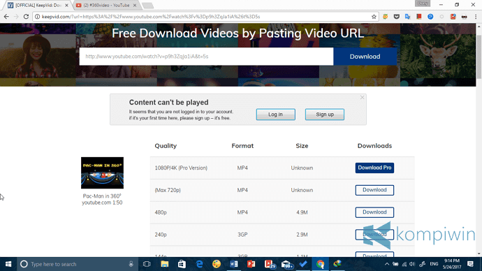 keepvid tempat download video youtube