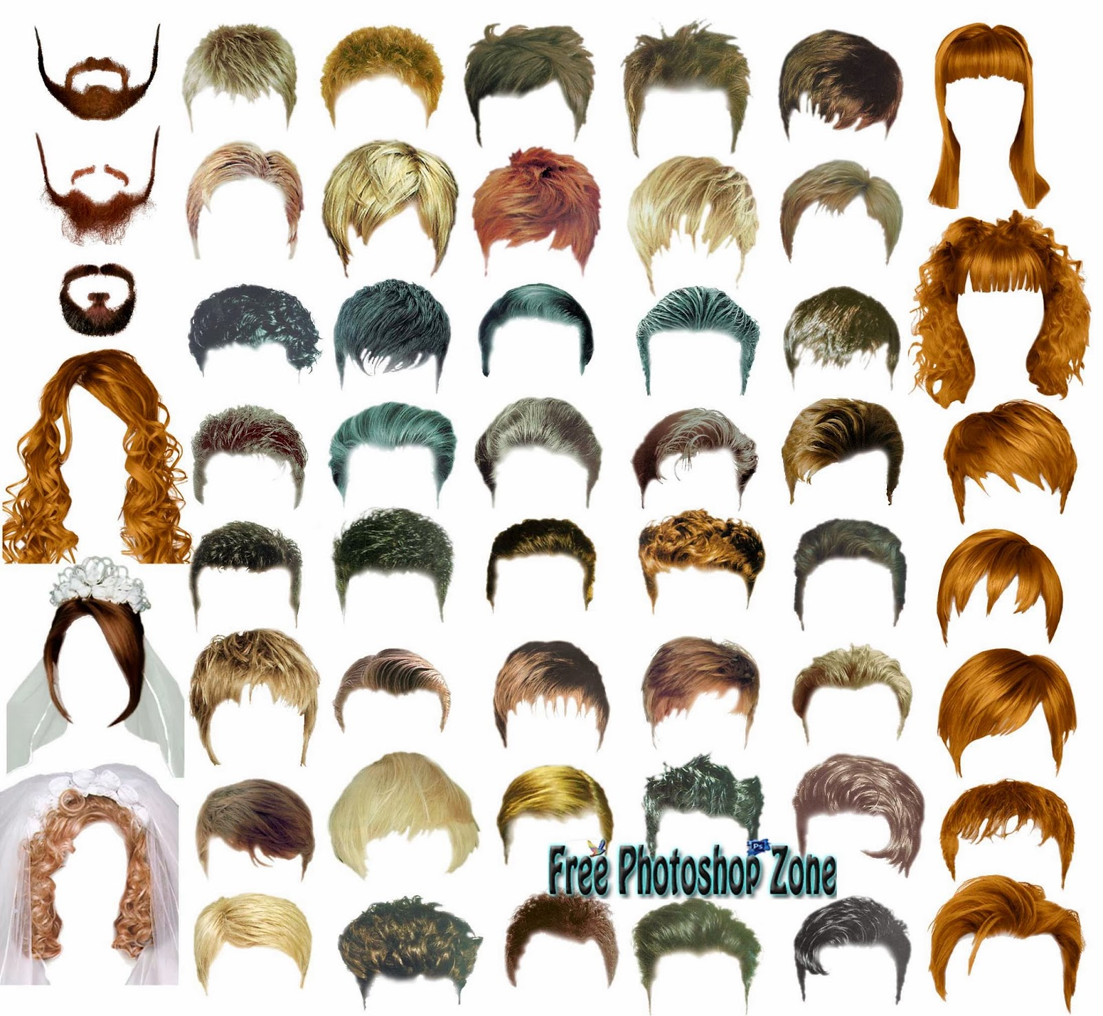 hair styles psd template free photoshop zone