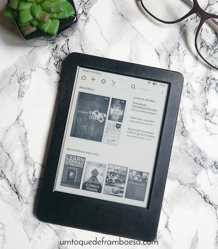 Página inicial do Kindle
