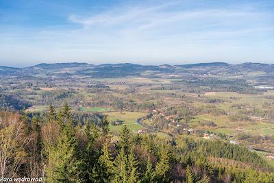Dolina Bobru w kierunku zachodnim; widok z Sokolika