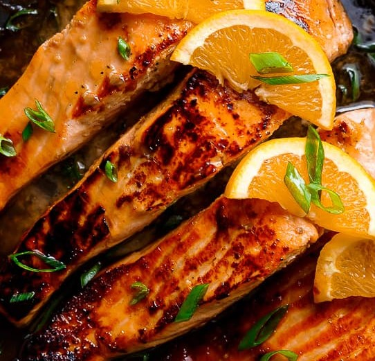crispy honey orange glazed salmon #dinner #meals