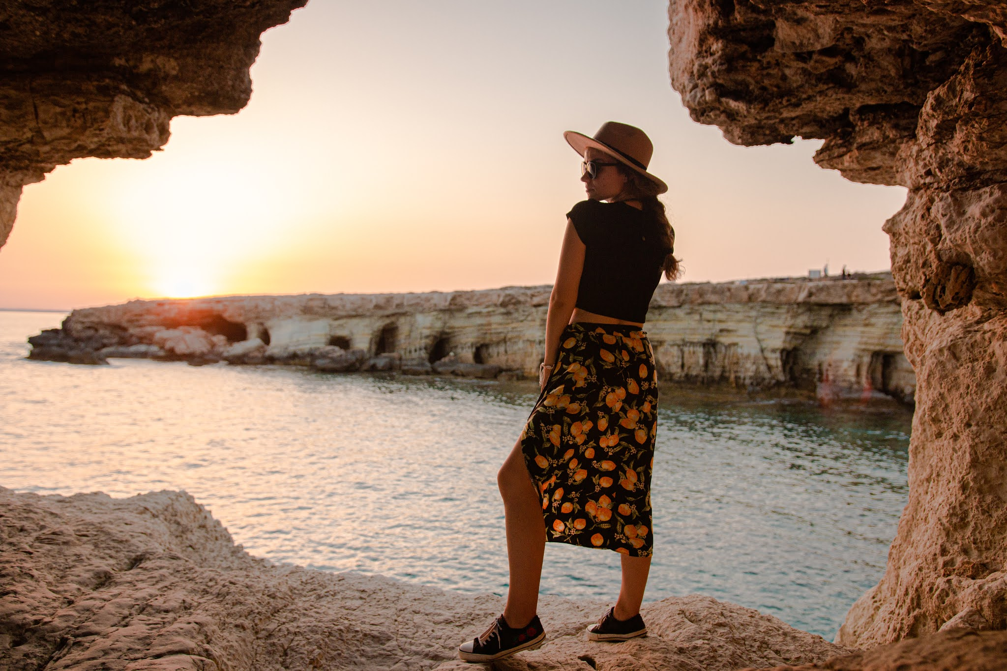 Sea Caves, Cypr, klify, i jaskinie morskie