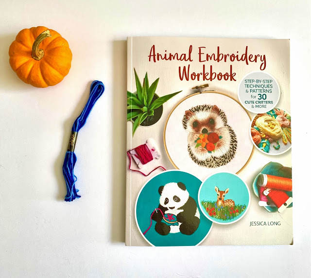 Learn how to embroidery with Animal Embroidery Workbook & giveaway