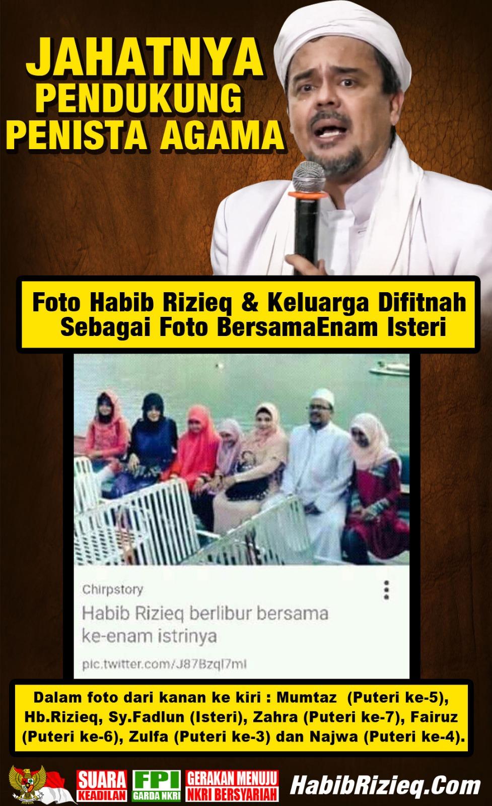 Sungguh Jahatnya Pendukung Penista Agama! Sampai-sampai Fitnah Habib Rizieq dengan Foto ini : Detikberita.co Terbaru Hari Ini